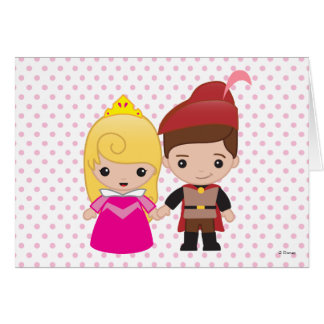 Aurora and Prince Philip Emoji Card