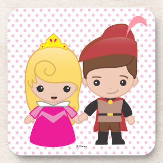 Aurora and Prince Philip Emoji Drink Coaster