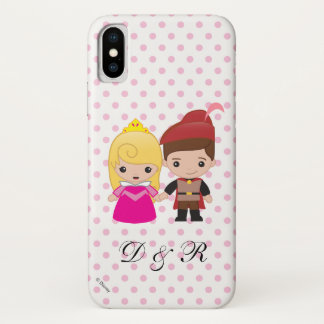 Aurora and Prince Philip Emoji iPhone X Case