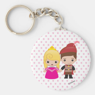 Aurora and Prince Philip Emoji Keychain