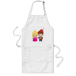 Aurora and Prince Philip Emoji Long Apron