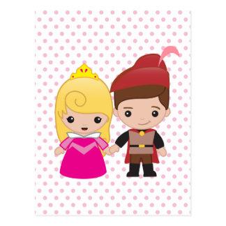 Aurora and Prince Philip Emoji Postcard