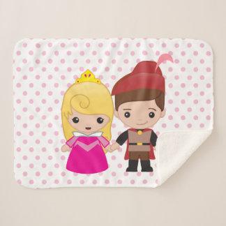 Aurora and Prince Philip Emoji Sherpa Blanket