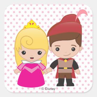 Aurora and Prince Philip Emoji Square Sticker