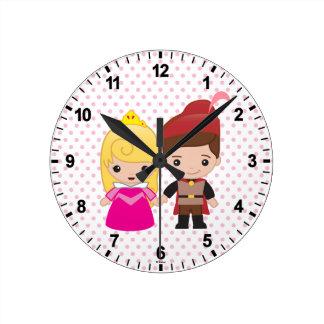 Aurora and Prince Philip Emoji Wallclock