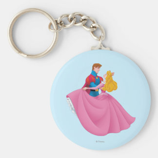 Aurora and Prince Phillip Dancing Basic Round Button Keychain