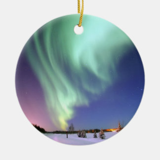 Aurora - Beautiful Northern Lights Round Ceramic Ornament