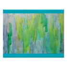 Aurora Borealis abstract watercolor Poster
