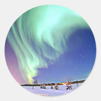 Aurora Borealis Classic Round Sticker