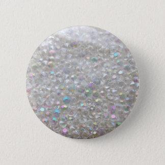 Aurora Borealis Crystals Image 2 Inch Round Button