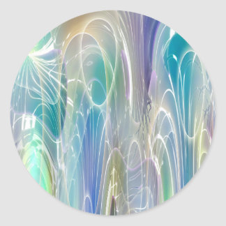 Aurora Borealis Fantasy Abstract Art Classic Round Sticker