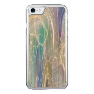 Aurora Borealis Fantasy Abstract Art Pastel Shades Carved iPhone 8/7 Case