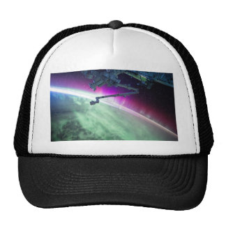 Aurora Borealis from space Trucker Hat