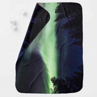 Aurora borealis in Finnish Lapland Baby Blanket