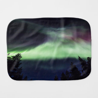 Aurora borealis in Finnish Lapland Burp Cloth