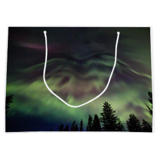 Aurora borealis in Finnish Lapland Large Gift Bag