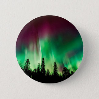 Aurora borealis northern lights 2 inch round button
