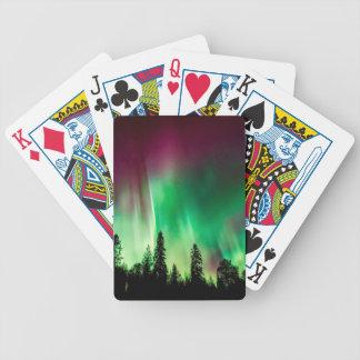Aurora borealis northern lights bicycle playing cards