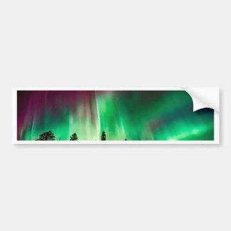 Aurora borealis northern lights bumper sticker