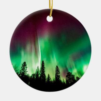 Aurora borealis northern lights ceramic ornament
