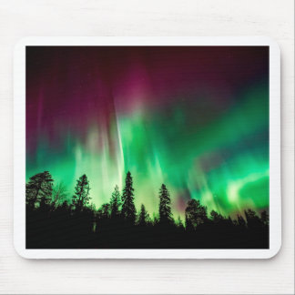 Aurora borealis northern lights mouse pad