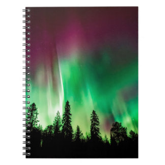 Aurora borealis northern lights notebook