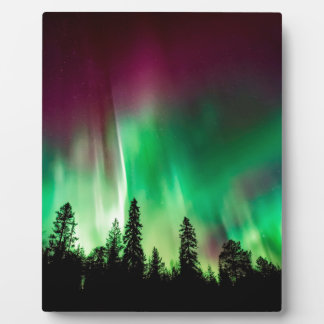 Aurora borealis northern lights plaque