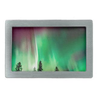 Aurora borealis northern lights rectangular belt buckles