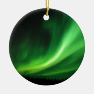 Aurora Borealis Northern Lights Round Ceramic Ornament