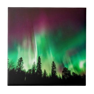 Aurora borealis northern lights tile