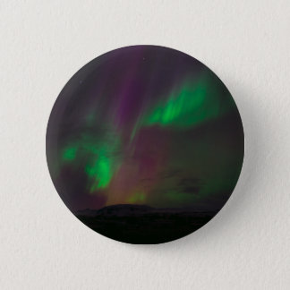 Aurora Borealis Northern Lights Trees Nature Lands 2 Inch Round Button
