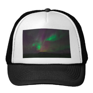 Aurora Borealis Northern Lights Trees Nature Lands Trucker Hat