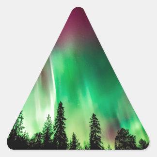 Aurora borealis northern lights triangle sticker