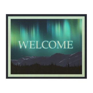 Aurora Borealis (Northern Lights) - Welcome Wood Prints
