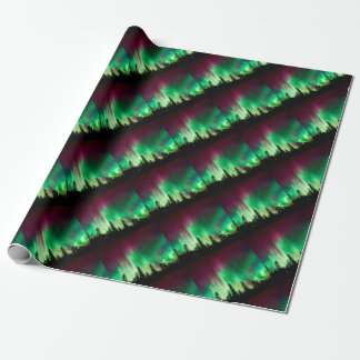 Aurora borealis northern lights wrapping paper