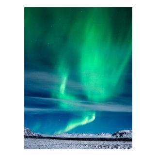 Aurora Borealis over Mosfellsheiði Postcard