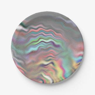 Aurora Borealis Paper Plate