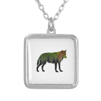 Aurora Borealis Silver Plated Necklace