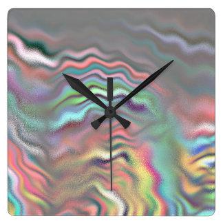 Aurora Borealis Square Wall Clock