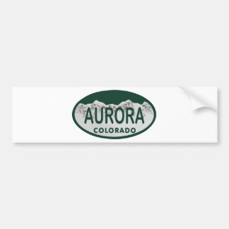 Aurora Colorado license oval Bumper Sticker