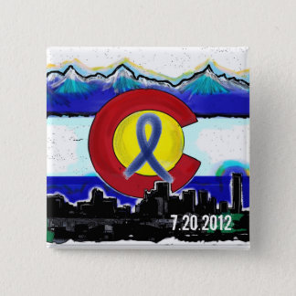 Aurora Colorado memorial skyline flag button