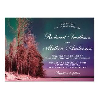 Aurora Forest Northern Lights Wedding Invitation