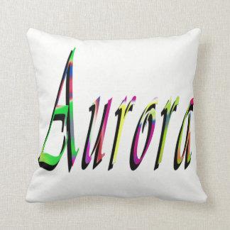 Aurora Girls Name Logo, Throw Pillow