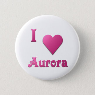 Aurora -- Hot Pink 2 Inch Round Button