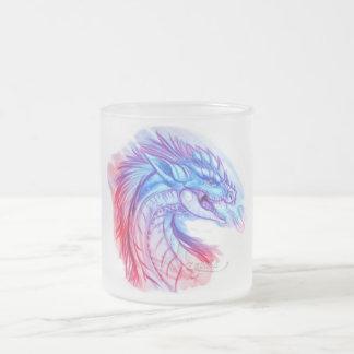 Aurora Ice dragon 10 Oz Frosted Glass Coffee Mug
