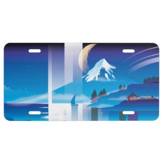 Aurora Landscape License Plate