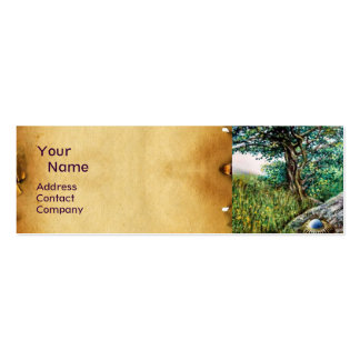 AURORA / MAGIC TREE, green, blue,parchment Pack Of Skinny Business Cards