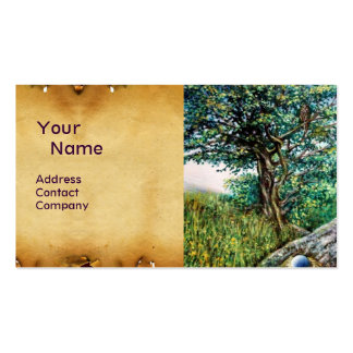 AURORA / MAGIC TREE, green, blue,parchment Pack Of Standard Business Cards