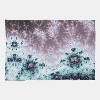 Aurora Night Sky Fractal Hand Towel