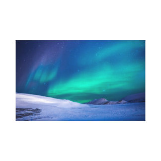 Aurora Night Skyline Canvas Print